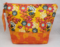 Orange Floral - Project Bag - Medium - Crafting My Chaos
