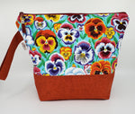 Pansies -  Project Bag - Medium
