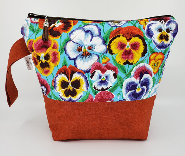 Pansies - Project Bag - Small