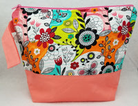 Peach Fantasy Flowers - Project Bag - Medium - Crafting My Chaos