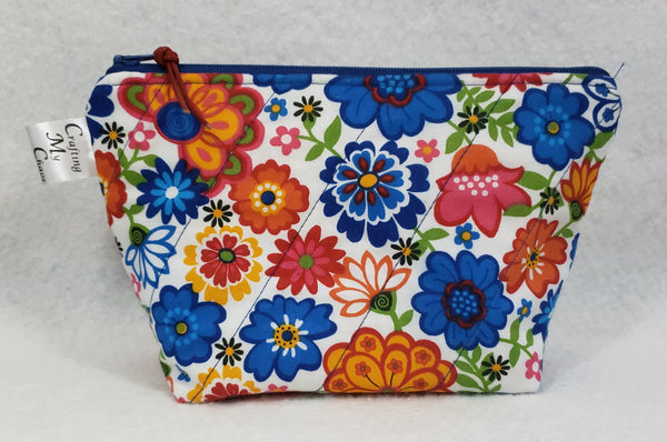Primary Floral - Notions Bag - Crafting My Chaos