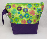 Purple and Flowers - Project Bag - Small - Crafting My Chaos