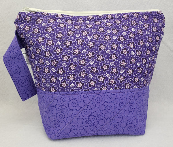 Purple on Purple - Project Bag - Small - Crafting My Chaos