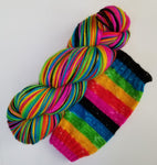 6 Rainbow Riot - Self-Striping - MS Sock 100 - Crafting My Chaos