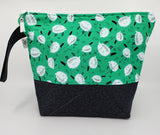 Sheep Grazing in Green - Project Bag - Medium
