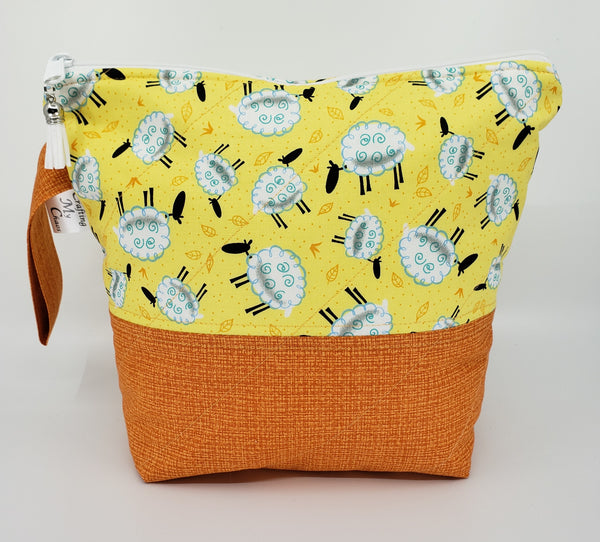 Sheep Grazing in Orange - Project Bag - Small