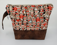 Sock Monkey - Project Bag - Medium