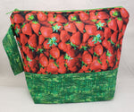 Strawberry Basket - Project Bag - Medium - Crafting My Chaos