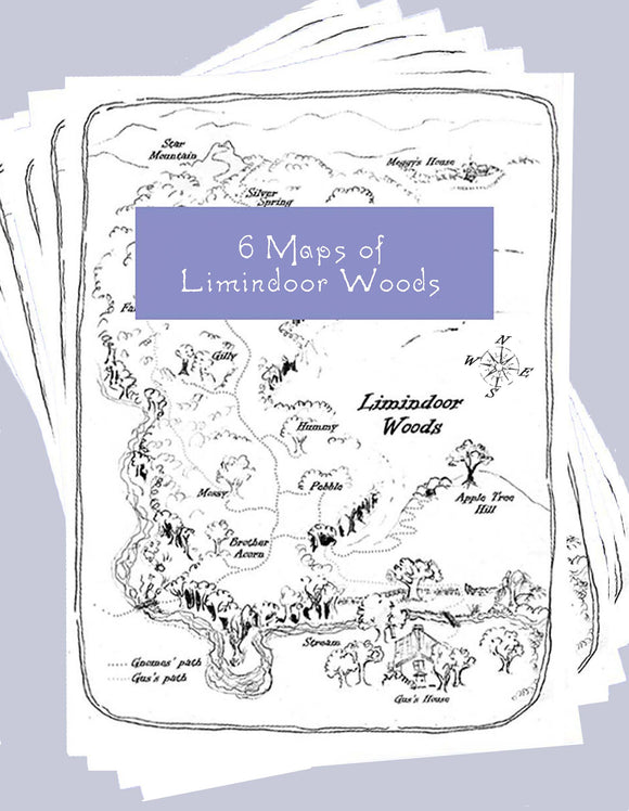 6 Maps of Limindoor Woods to print