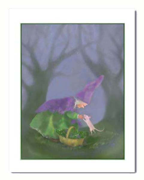The Gnomes' Rosette - greeting card to print