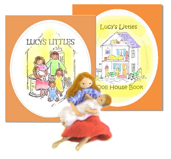 Lucy's Littles - book, doll instructions & dollhouse idea book, downloadable kit