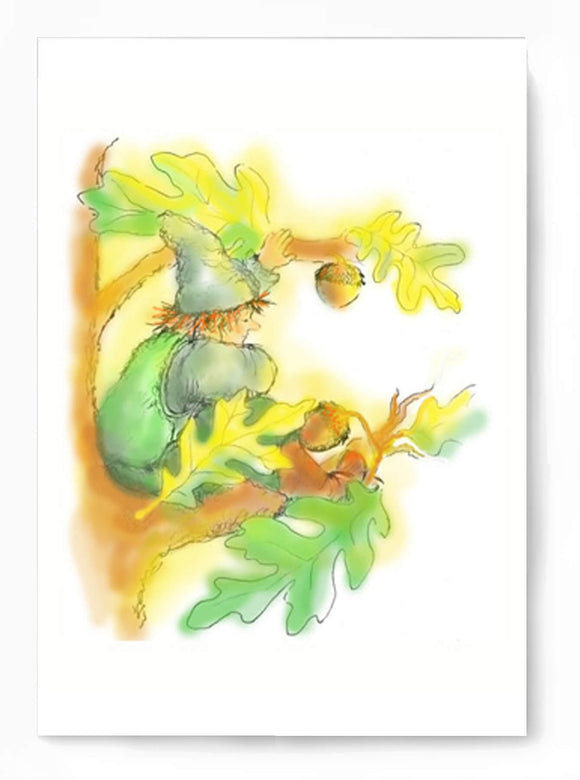 Bracken Gnome card to print