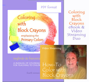 Coloring with Block Crayons eBook & Video Streaming combination