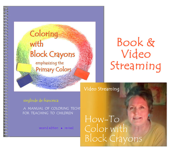Coloring with Block Crayons duo - book & video streaming