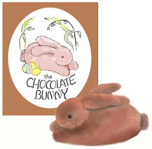 Chocolate Bunny - book and toy, downloadable kit