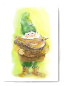 Gilly Gnome card to print