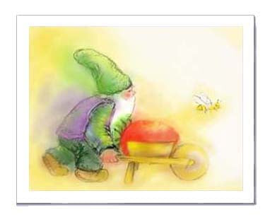 Mossy Gnome card to print