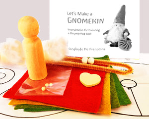 GNOMEKIN Special Kit - includes doll makings, fabric, patterns & instruction booklet for one Pocket-Gnome