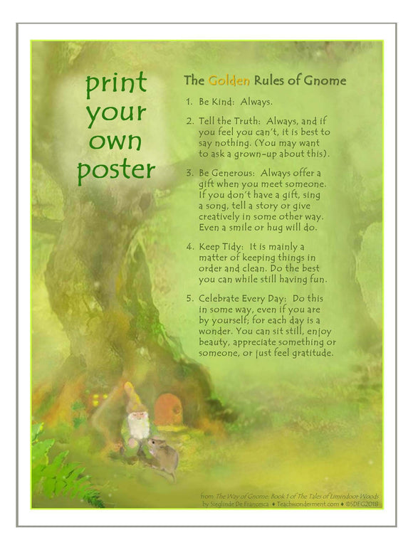 Print your own Poster of The Golden Rules of Gnome