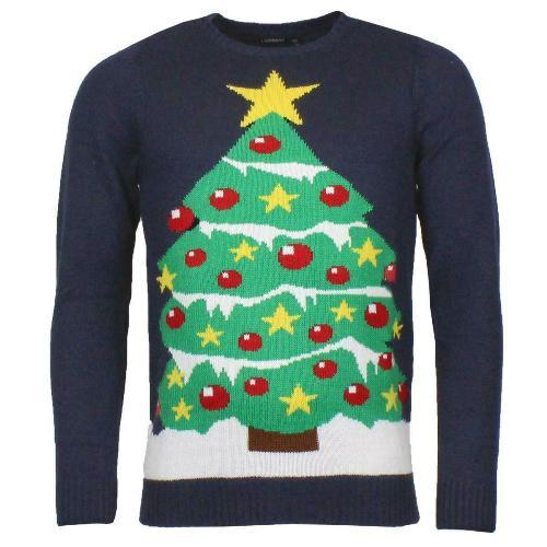 Unisex Xmas Christmas Tree Jumper
