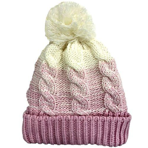 Womens Waterproof Cable Knit Beanie Hat - LA316