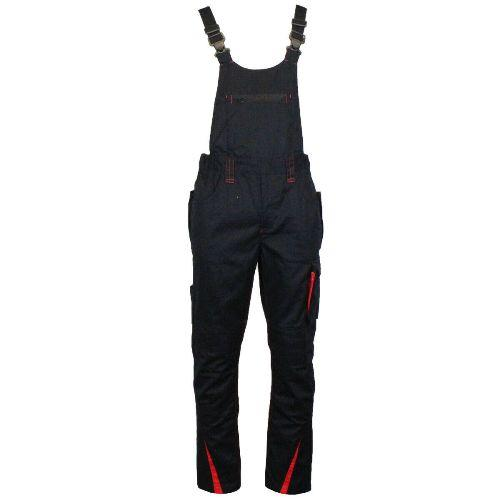 Mens F677 Bib & Brace Overall Knee Pad Multi Pocket Workwear