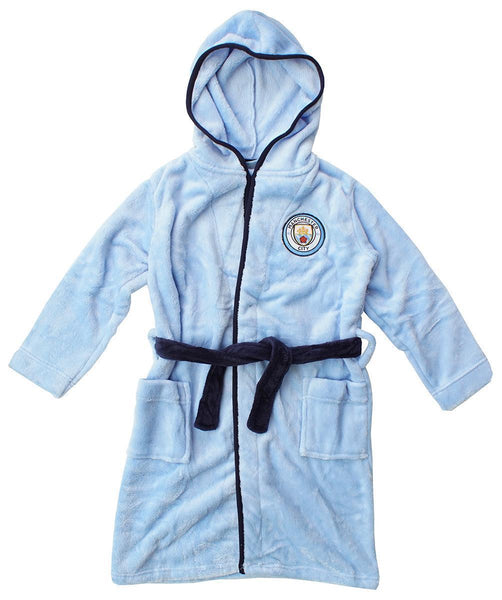 man city kids dressing gown