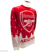 Arsenal Football Christmas Jumper / Mens Xmas Sweater