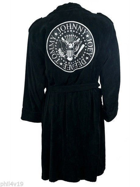 Ramones biker style Cotton Dressing gown / bathrobe (bath robe badges jacket)