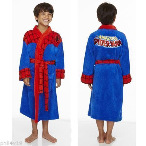 boys spiderman dressing gown