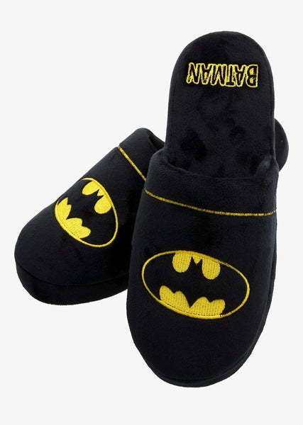 Batman Mens Slippers / Mules (Anti Slip Soles)
