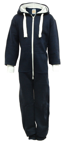 kids navy blue plain onesie