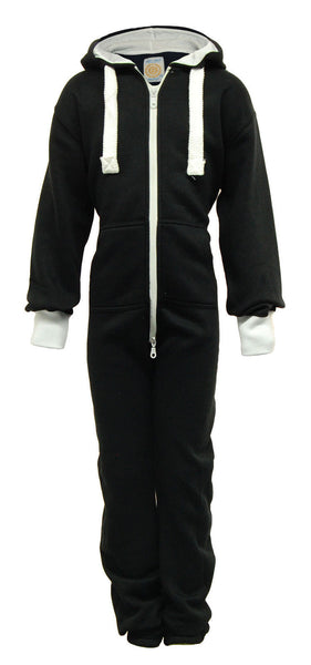 kids black plain onesie