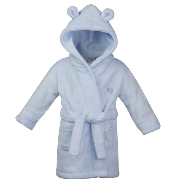 Babys / toddlers soft hooded dressing gown / robe