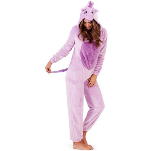 Ladies Novelty Purple Unicorn Onesie