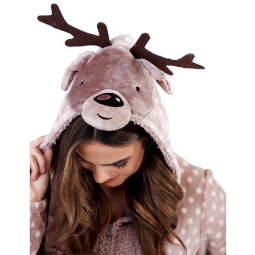 Ladies Novelty Spotted Moose Onesie