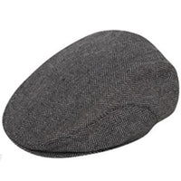 Mens Herringbone Tweed Flat Cap