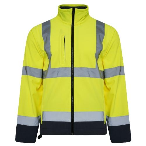 Mens Kapton HV602 Hi Vis Softshell Jacket