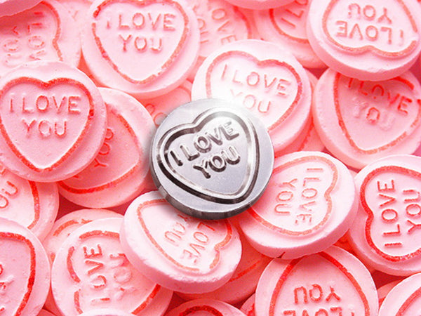 silver love heart sweet