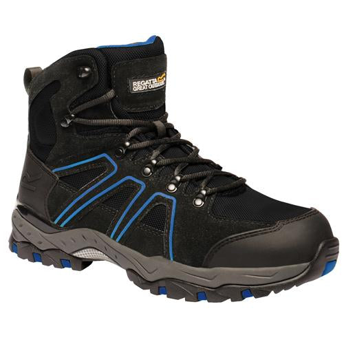 Mens TRK124 Regatta Pro Downburst Mid-Rise Safety Hiker Boots