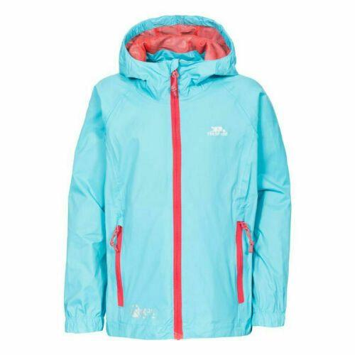 Kids Trespass Qikpac Waterproof Jacket Boys Girls Raincoat