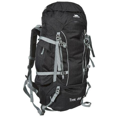 Trespass \'Trek\' 66 Litre Camping Hiking Bag Travel Backpack