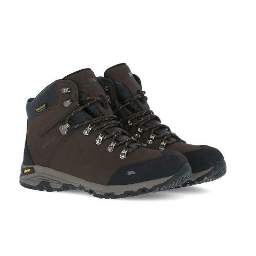 Mens Trespass Gerrard Hiking Boots Waterproof Leather Shoes