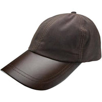Leather Skip Wax Baseball Cap