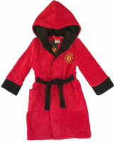 manchester united boys dressing gown