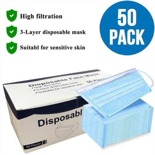 Disposable Face Mask - 3 Layer Medical in Blue