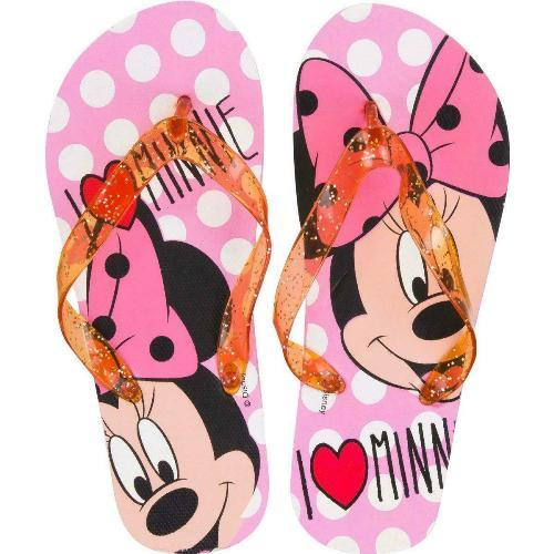 Girls Licenced Disney \'I Love Minnie\' Flip Flop