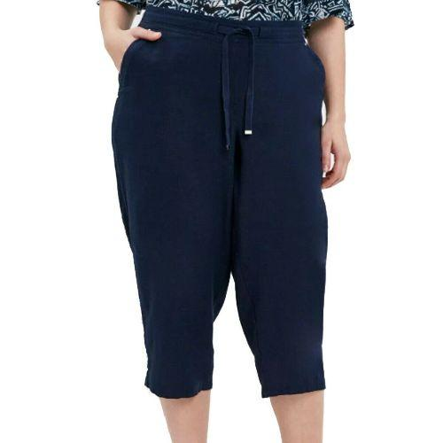 Ladies Linen Cropped Trousers Capri Short Pants