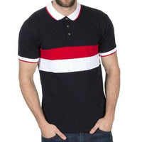Mens Stripe Pique Polo Shirts