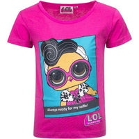 Girls Crew Neck Summer T-shirt Licenced LOL Surprise Selfie